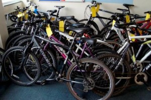 Surrey Police Displaying 50 Recovered Bikes