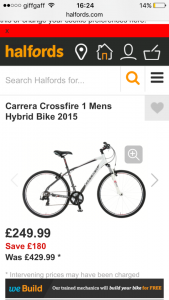 Carrera bicycles Crossfire 1
