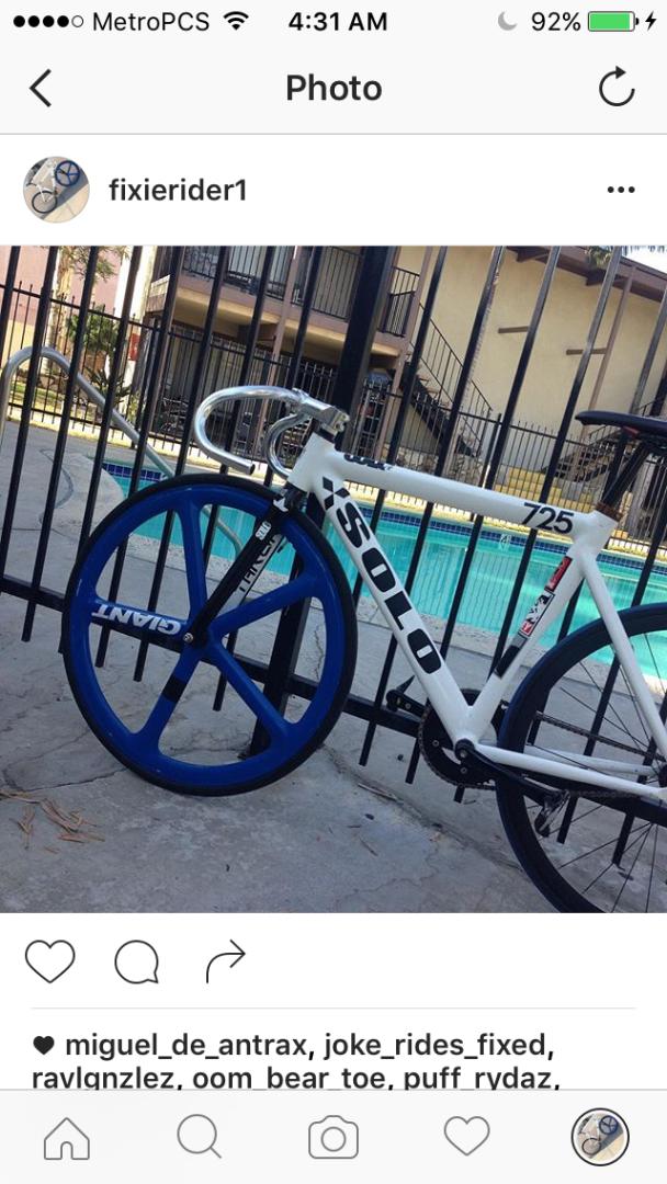 Stolen Leader Bikes Frame size 55 blue aerospoke and back black rims