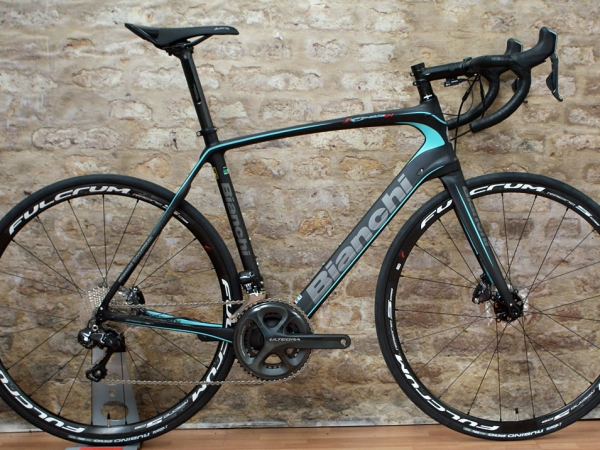 stolen bianchi infinito cv  105  ultegra  with disc brakes