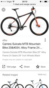 Carrera bicycles Sulcata Mun mountain bike