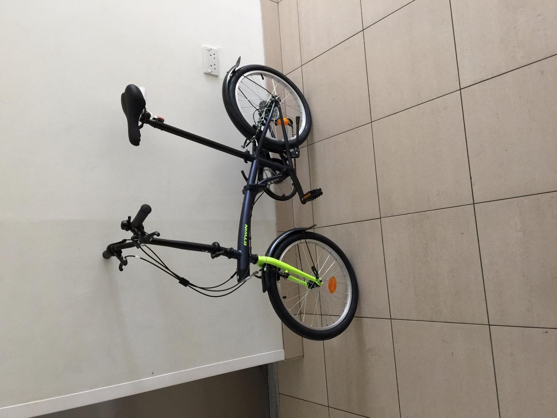 Stolen Decathlon B Twin Tilt 100 Folding Bike Grey
