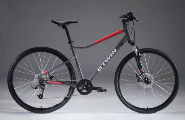 Bike Frame Size >> Stolen B'TWIN (Decathlon) B'TWIN RIVERSIDE 500 HYBRID BIKE – GREY/RED