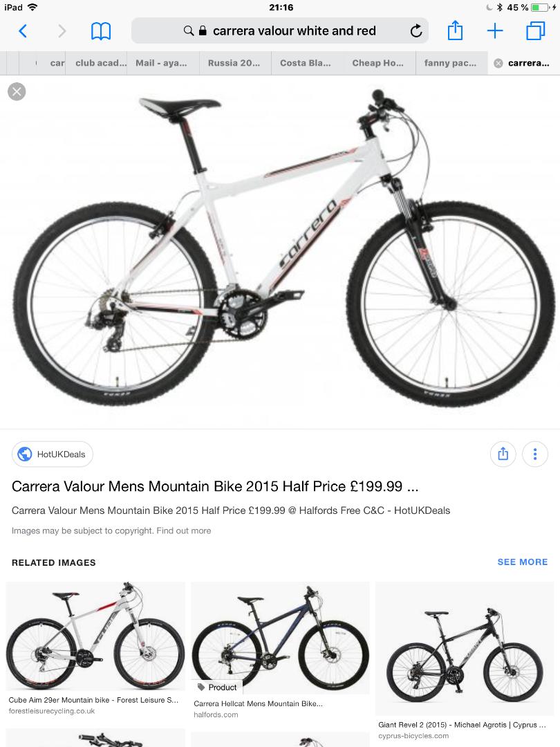 Stolen Carrera bicycles Carrera Valour Mens Mountain Bike