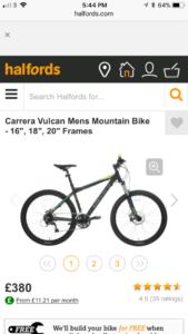 Carrera bicycles Vulcan