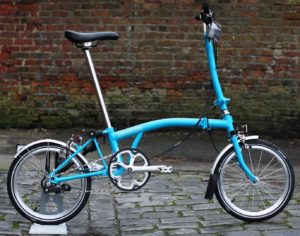 Brompton Bicycle Classic-style. 3 Speed. Specific model unknown.