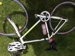 On-One (Planet X) fixed-gear white steel frame
