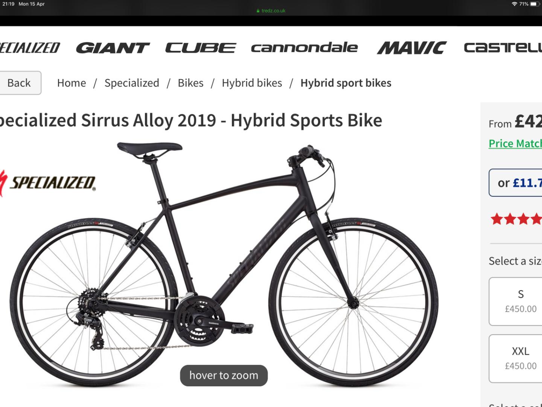 24562f82332 Stolen Specialized Sirrus Alloy 2019, Hybrid Sports Bike
