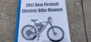 2017 New Fireball New Fireball electric bike without battery
