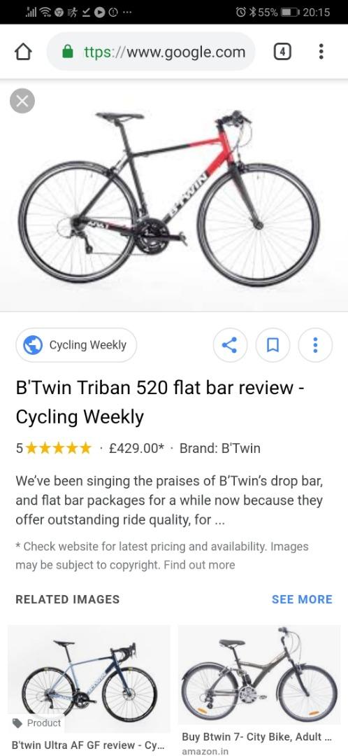 Stolen Btwin Triban flat bar 520